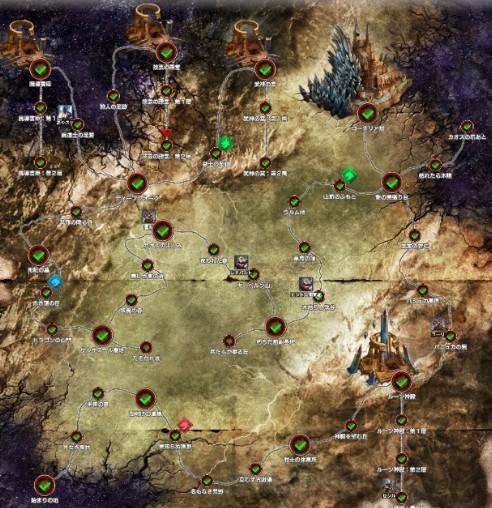 第1章「空白の運命」HARDリージョンマップ
