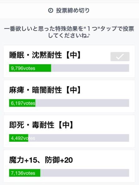 投票キャンペーン(ライン)