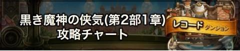 黒き魔神の侠気(第2部/1章)攻略チャート