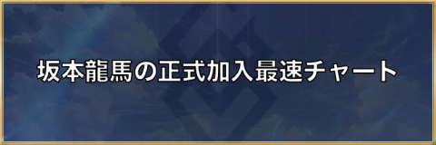 坂本龍馬の正式加入最速チャート