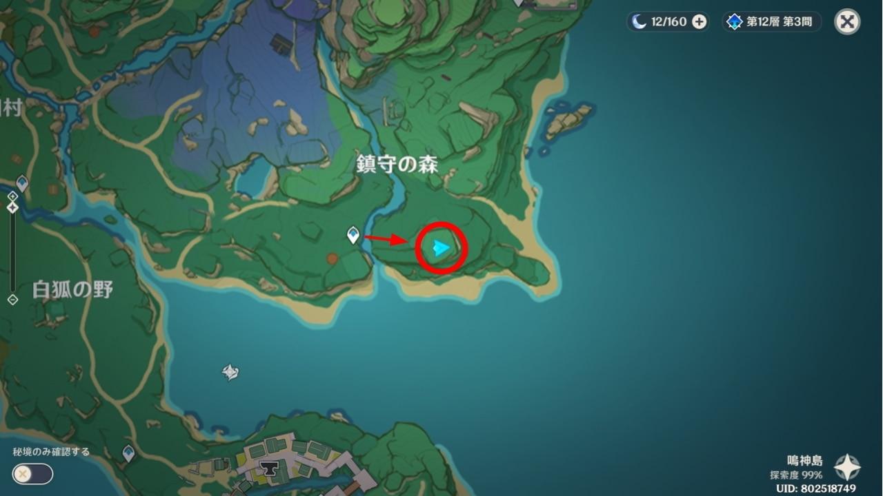 稲妻の地霊壇マップ2