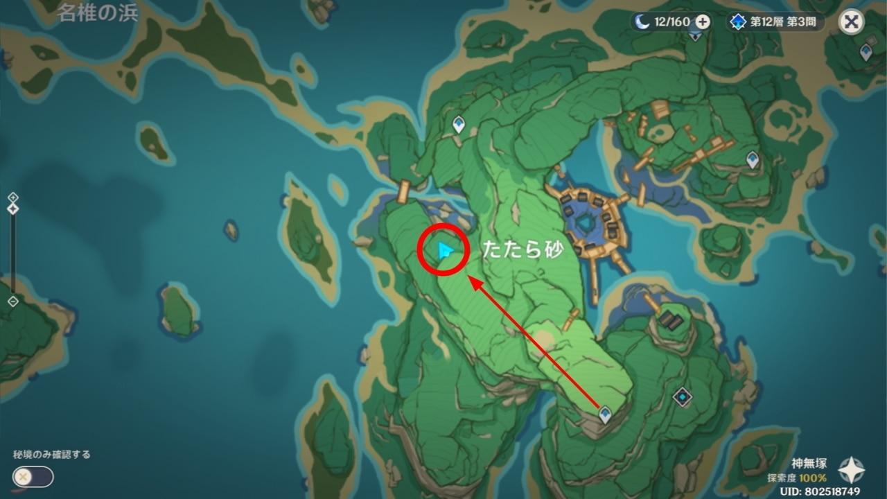 稲妻の地霊壇マップ4