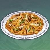 魚肉の焼き麺