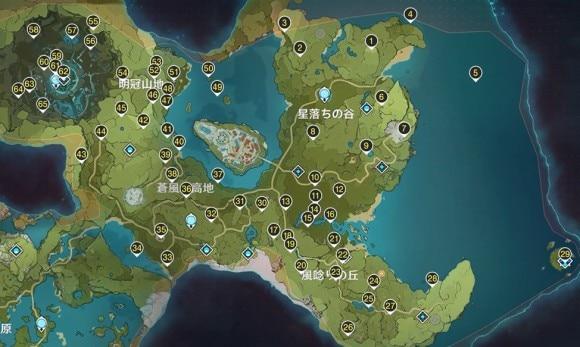 風神の瞳マップ