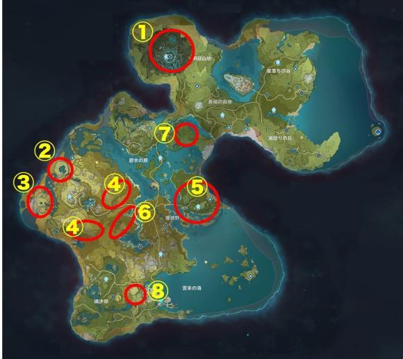 鉱石マップ
