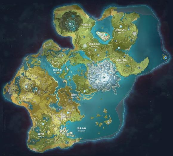 テイワットマップ