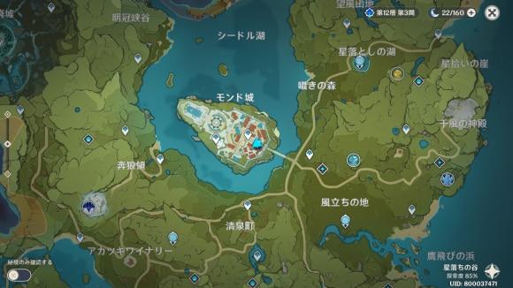 ディオナデートマップ