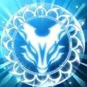 青い狐のオーラ