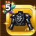 ブラックシーザーの鎧上