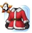 サンタの服上