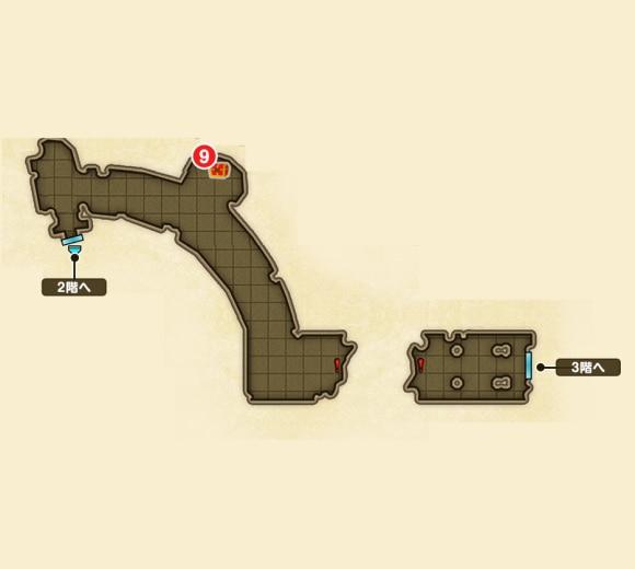 3階への道