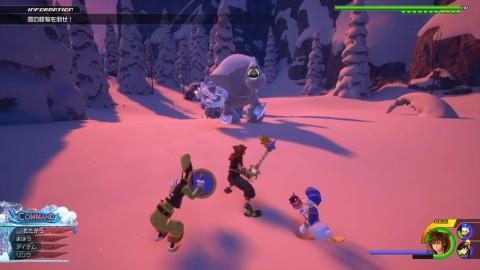 雪の怪物を倒す