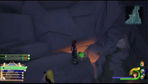 洞窟の高台