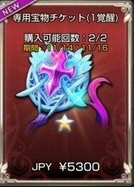 専用宝物チケット(1覚醒)