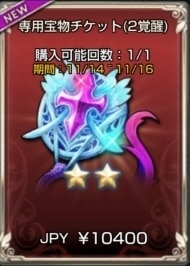 専用宝物チケット(2覚醒)
