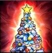 聖夜のクリスマスツリー