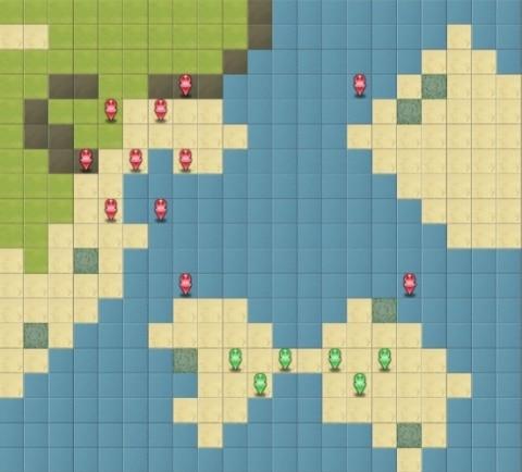 プレイボール!Lv.50のマップと初期位置