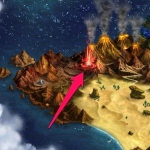 火山のふもと