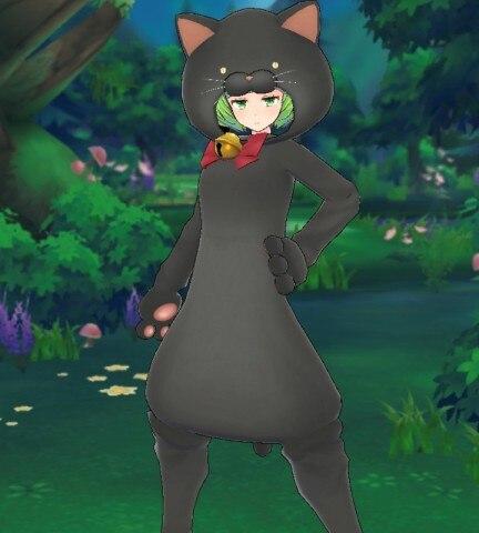 ネコのきぐるみセット(黒)