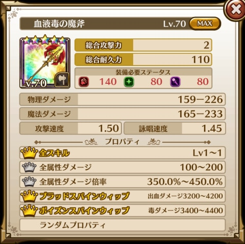 血液毒の魔斧