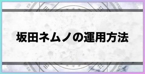 坂田ネムノの運用方法