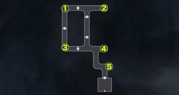 イケブクロ坑道_B5FアイテムMAP