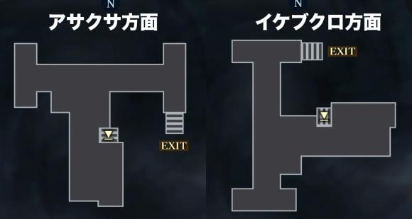 イケブクロ坑道_駅構内アイテムMAP