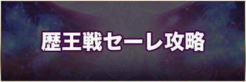 歴王戦セーレ攻略【おすすめパーティー】