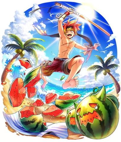 モラクス専用衣装「盛夏の闘志」