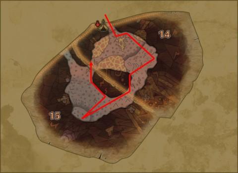 溶岩地帯採取ルート