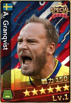 グランクヴィスト(スウェーデン選抜)