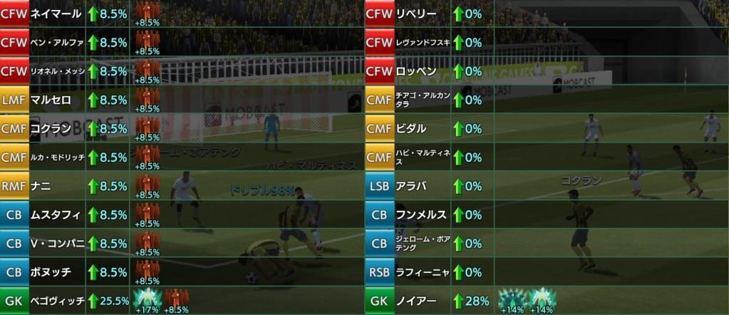 試合中のスキル効果