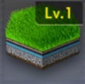 長い人工芝生