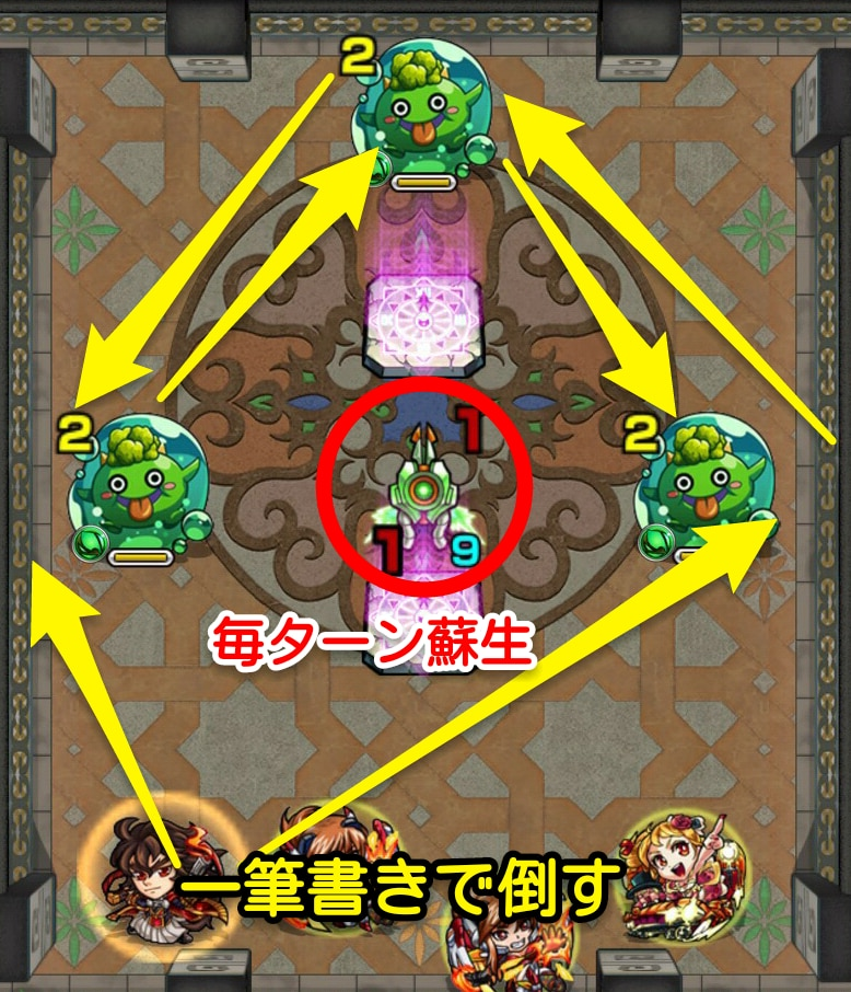 覇者の塔33階ステージ1