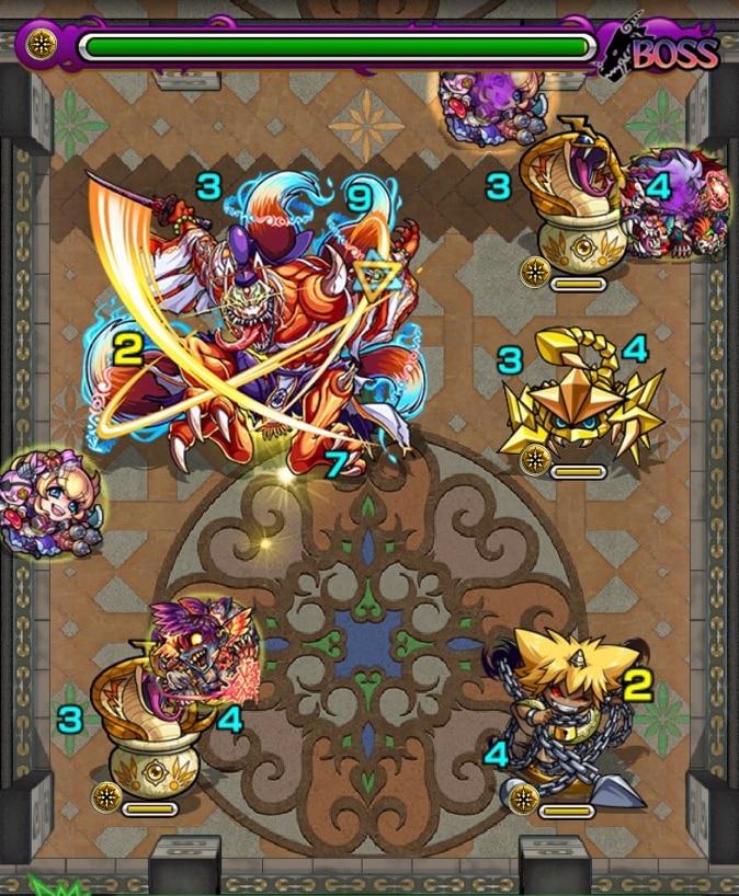 覇者の塔24階ボス2ステージ