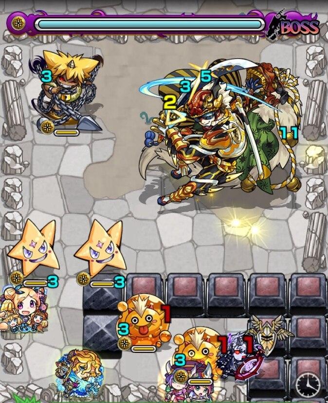 荒獅子丸(究極)ボス第1ステージ