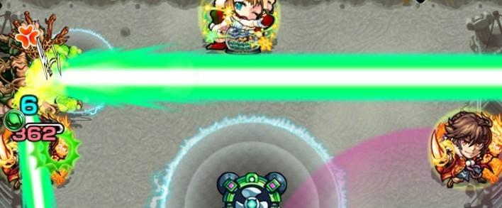 翠龍のレーザー攻撃