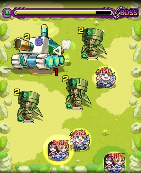 葉桜の広場(1木)バトル2