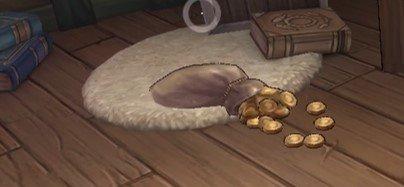 屋根裏金貨袋