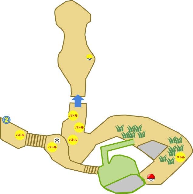 ポニの大峡谷(試練の場)の出現ポケモンとマップ/入手道具