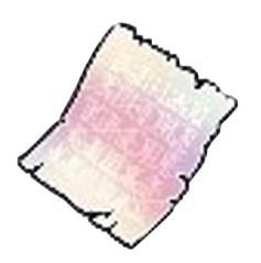 輝く経験値の紙片