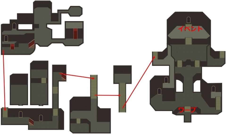 魔王殿のマップ