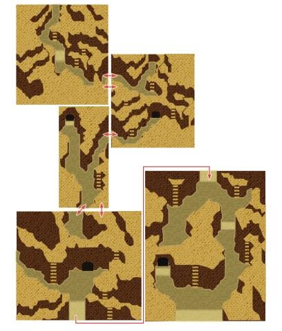 乾いた大河のマップ