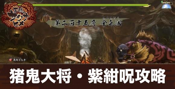 天返宮15層ボス「猪鬼大将・紫紺呪」の攻略