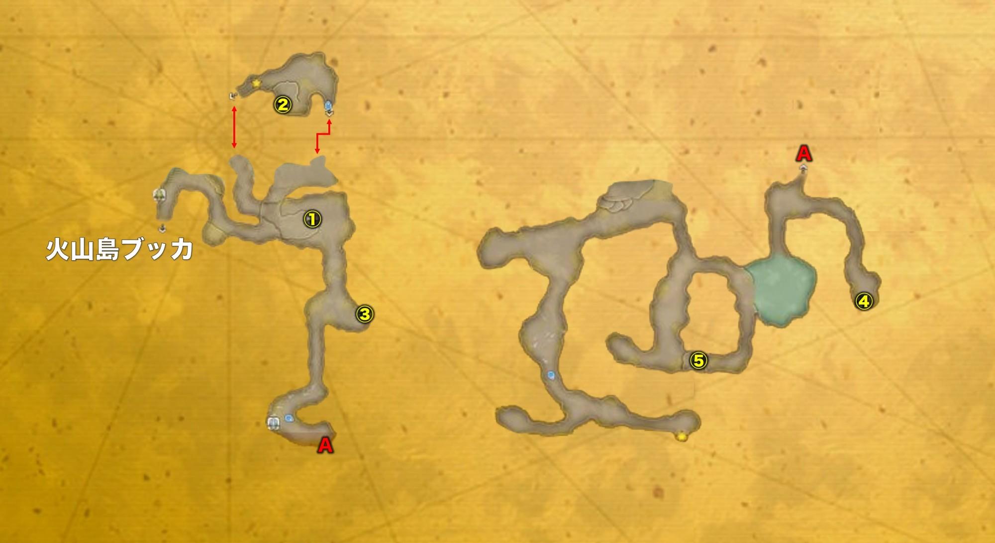 岸辺の洞窟