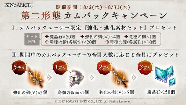 カムバックキャンペーンまとめ【魔晶石2000個配布決定】