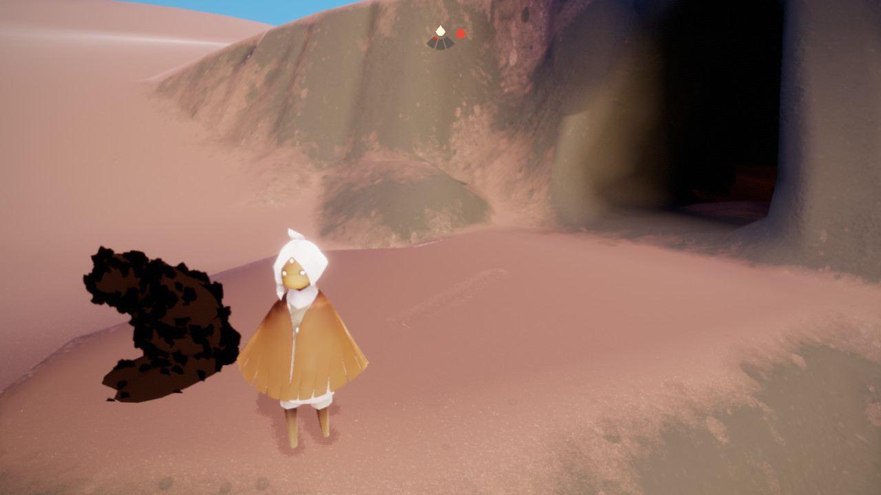 砂漠左の洞窟