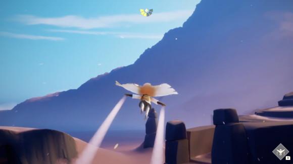 風にのって遠くまで飛ぶ