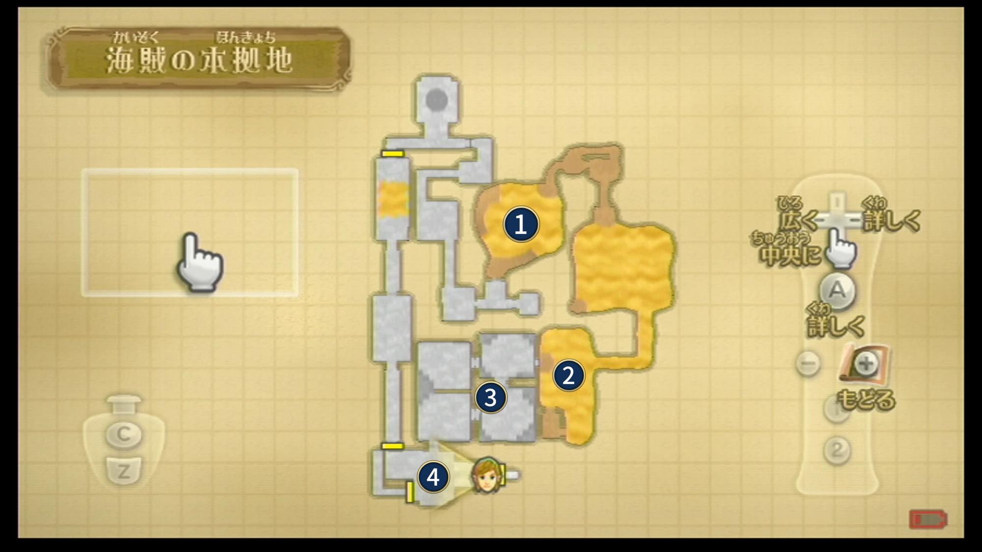 海賊の本拠地の場所とマップ