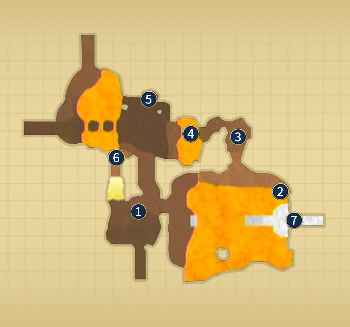 火山山頂噴火後マップ